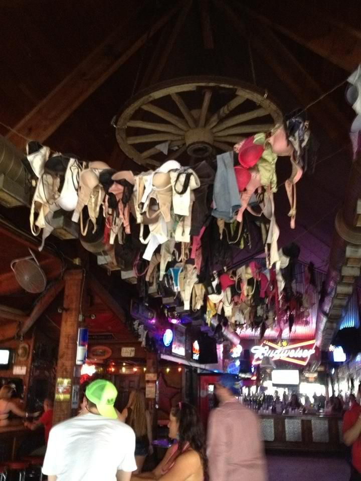 Dancing on the bar and leaving my bra at the Coyote Ugly bar in Nashville is on my bucket list!