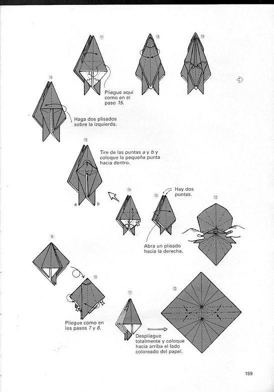 kunihiko kasahara y Toshie Takahama (Papiroflexia) - Origami para expertos 158_page158