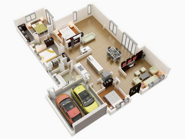 Top 3d Floor Plan Ideas Of 2018 3d Floor Plan Designs Render In 3d Max With Vray Narrow House Plans 30x40 House Plans Floor Plan Design