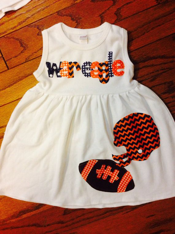 Football Dress  Toddler Dress  Auburn Dress by roundthebendagain, $32.00