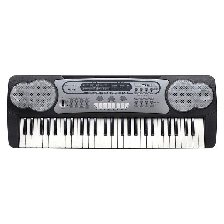 Spectrum 54 Note Electric Keyboard - Black (Ail 439)