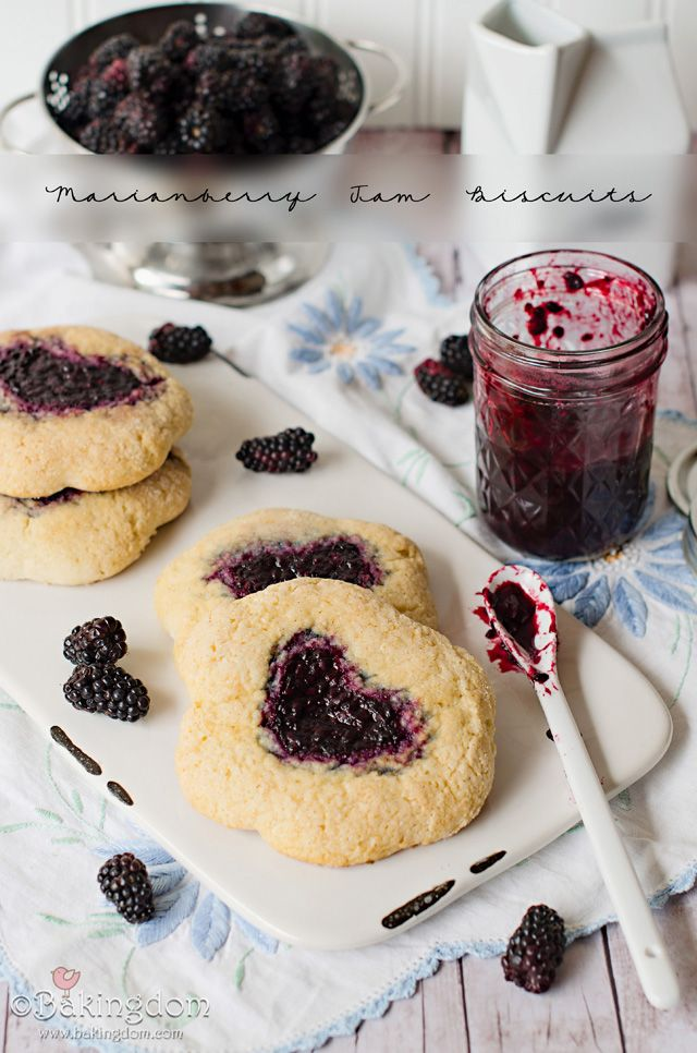 An homage to Oregon - Marionberry Jam Biscuits. Goodbye, Oregon...thank you!
