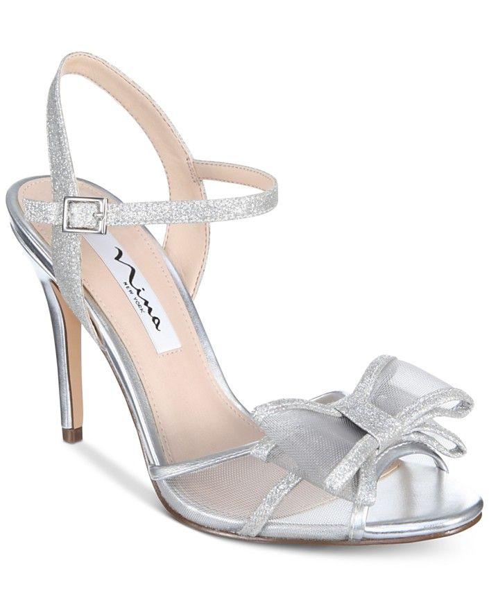 Bow heels, Blue bridal shoes, Dress sandals