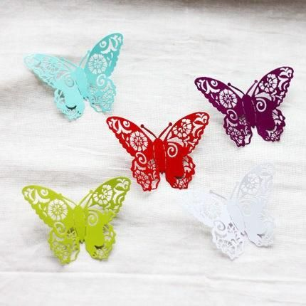 3D стены стикеры железные бабочки дома девушки питомник арт украшения