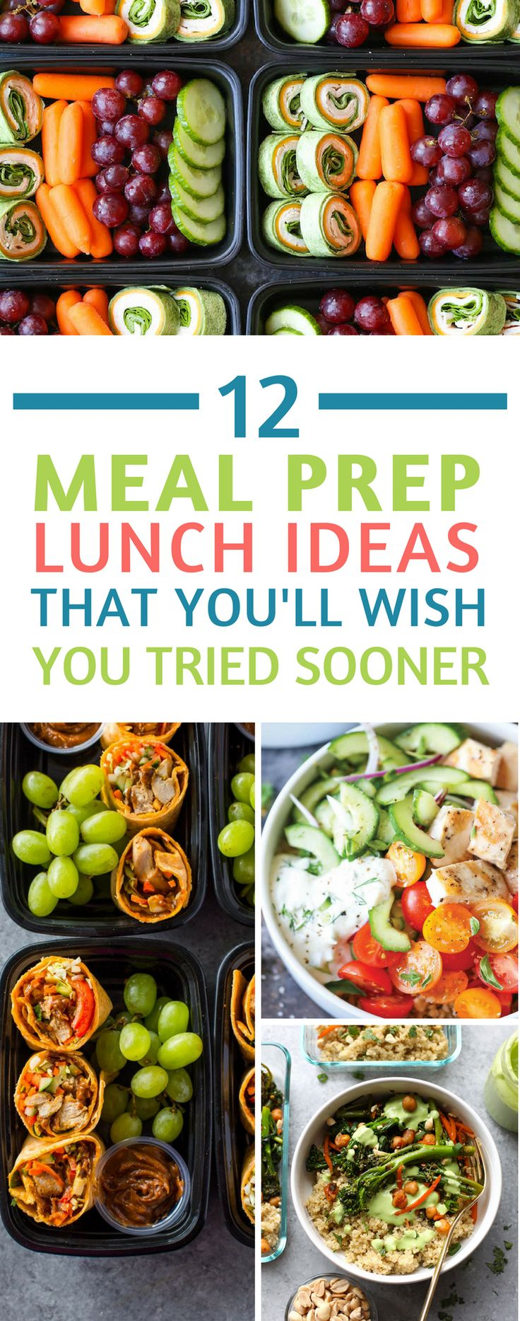 These meal prep lunch ideas are healthy, easy to make and so bright and colourful they're sure to make you smile! #mealprep #mealprepsundays #lunch #food