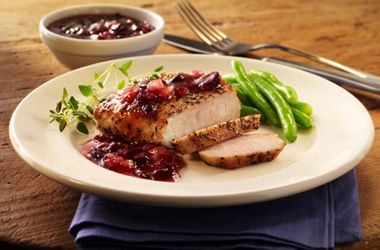 Ocean Spray Pork Chops with Blueberry Craisin Sauce. Try this recipe now: http://www.oceanspray.com/Recipes/Corporate/Main-Courses/Pork-Chops-with-Blueberry-Craisin-Sauce.aspx?courses=MainCourses