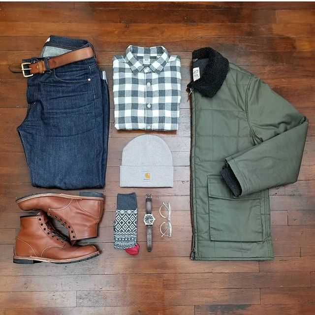 Layered Well in this Stylish Grid by @rather__dashing  Follow  @stylishgridgame   www.StylishGridGame.com  Brands  Jacket: @grayers Shirt  Socks: @uniqlo Jeans: @theunbrandedbrand Boots: @redwingheritage Watch: @timex Glasses: @eyebuydirect Hat: @carharttwip - Men's #Fashion Trends and Latest Styles - Celebrities and Popular Culture - #Shopping Inspiration for Bargain Hunters - Fashionistas and Shopaholics - Haute Couture - Men's Apparel and Accessories - Advertising and Editorial…