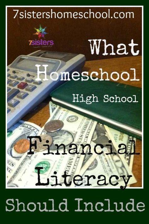 What should homeschool high school financial literacy include?