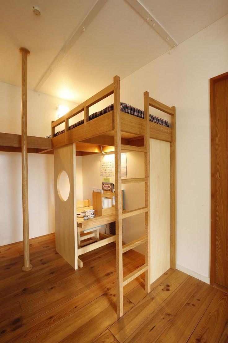 個々のスペース(子供スペース)(S邸・のぼり棒付きの楽しいロフトベッド!) - 子供部屋事例|SUVACO(スバコ)