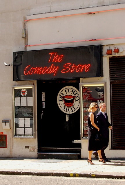 The comedy store in London , an absolute must if you come to London.