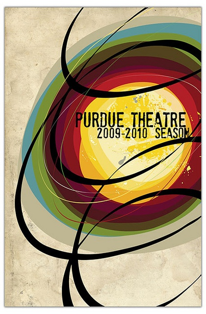Purdue Theatre 09-10 Season Brochure Cover by Yvette Shen, via Flickr