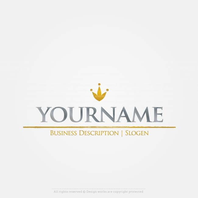 Create A Logo Simple Crown Logo Template Hotel Logo Design Signature Logo Design Business Logo Branding