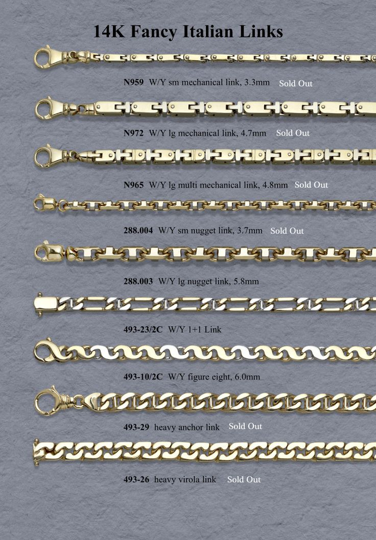 14 best images about jewelry chain link styles on ...
