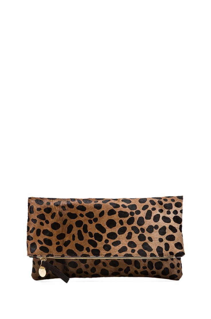 Clare Vivier Foldover Clutch in Leopard from REVOLVEclothing
