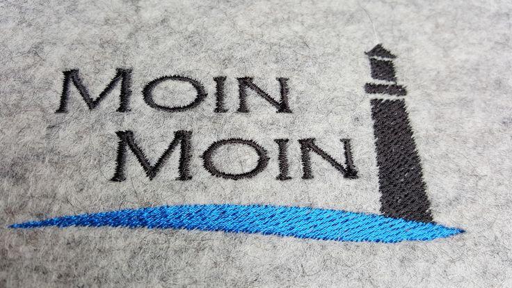 #Gästemappe #bestickt #MoinMoin #Leuchtturm #lighthouse #Wollfilz #BruniWallner #Maultäschle-filz