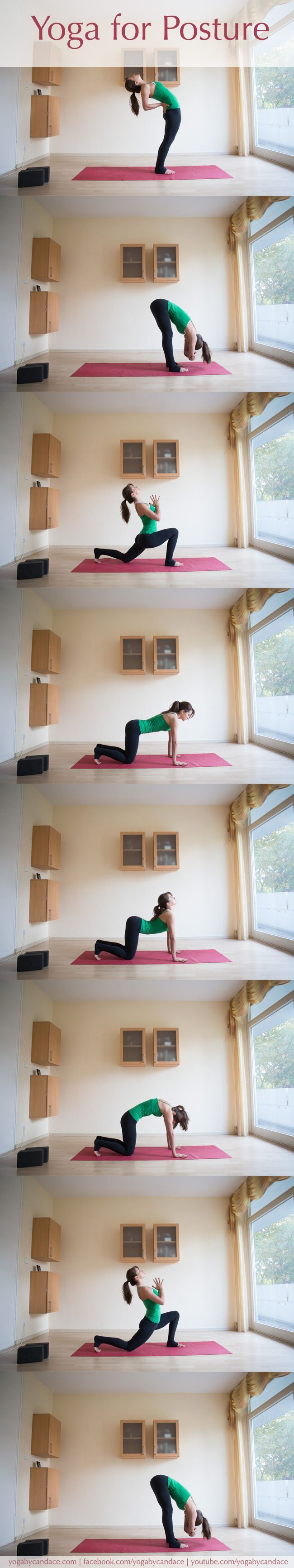 Posture problems are common, regardless of whether you're sitting at a desk  or are on your feet all day. This sequence is short, but don't let its size  fool you - it is very effective.  Click below to read more.
