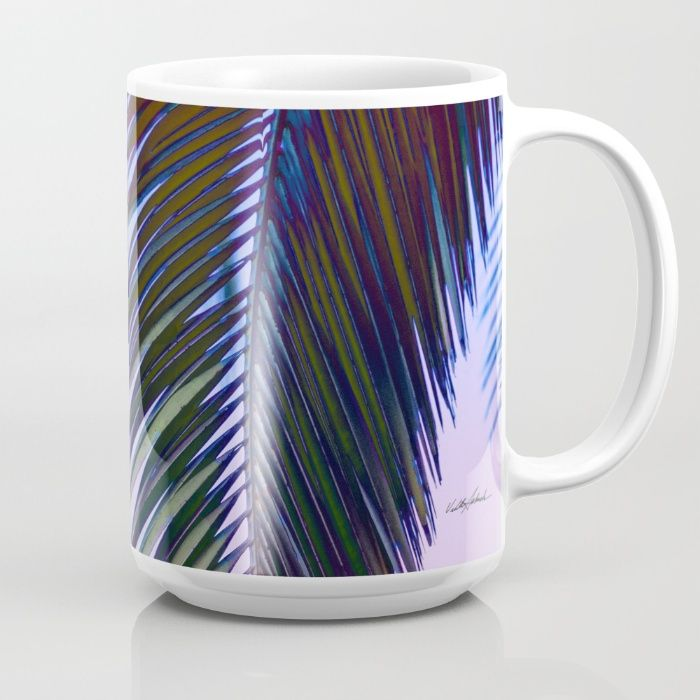 Western Sunset Mug by Vikki Salmela, #western #tropical #palm on #home #office #accessory #mugs for #coffee #tea #beverage or #collectable.