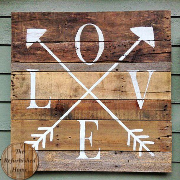 DIY Valentine's Day and LOVE Signs - landeelu.com