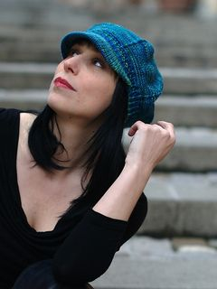 Hand knitted baseball cap option