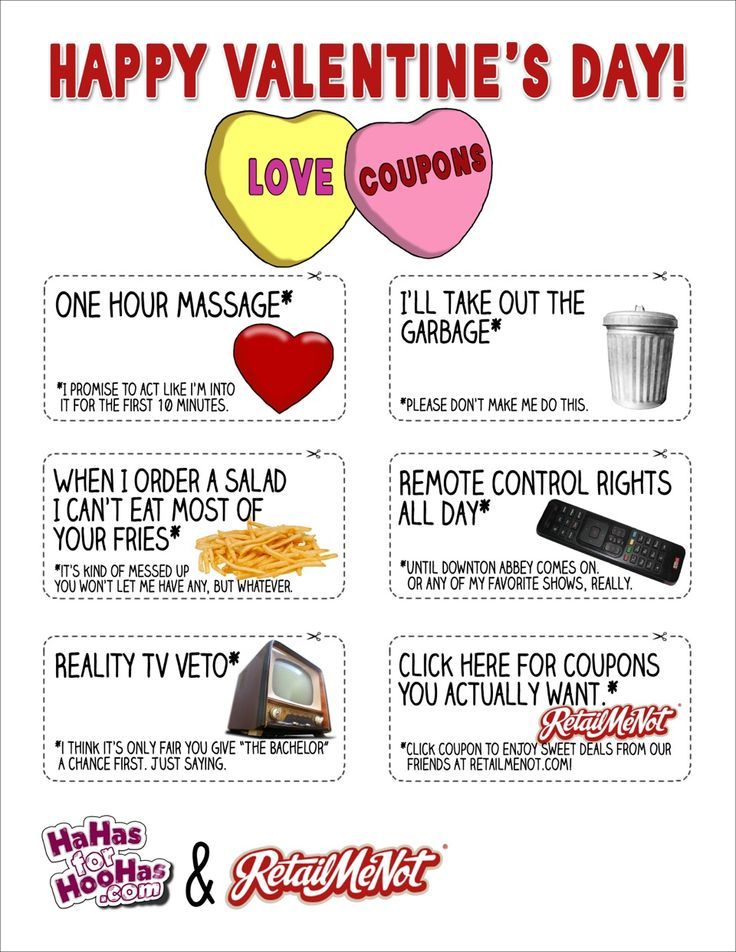 Funny coupons for friends