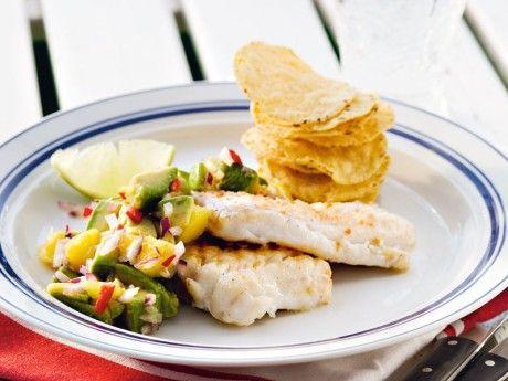 » Fisk med avokadosalsa – Recept – Allt om Mat