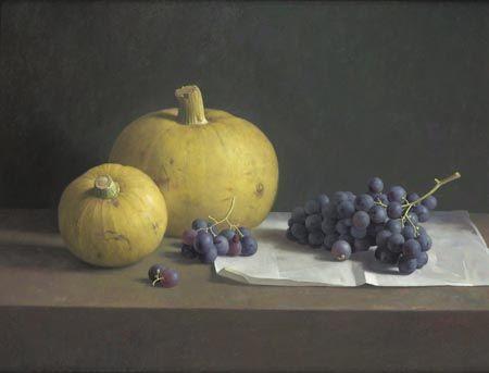 Stilleven met druiven en kalebassen 1999