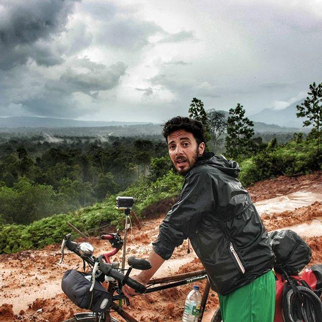 Rain hit hard today, the whole road turned into mud #offroading  #bicycletrip#biketouring#cicloturismo#cycletouring#bicycletouring #nature_good #naturesbeauty #roadtrip #ridetheworld #ride100percent  #journeys #wanderlust #wanderluster #wanderlusters