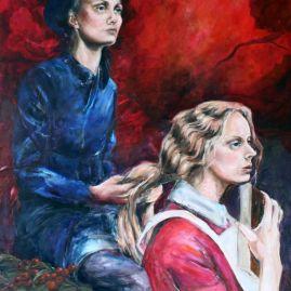 Sisterhood. Oil painting by Lene Merete Haugen