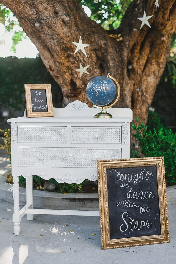 Moon and stars themed wedding | Wedding & Party Ideas | 100 Layer Cake