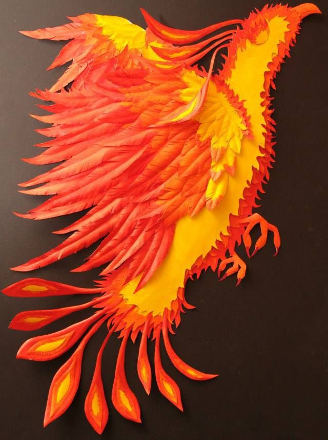 Phoenix- Paper Sculpture