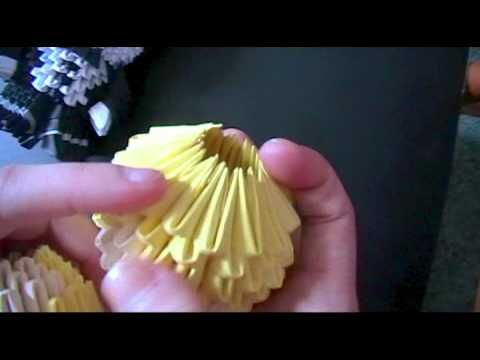 3D origami: how to make a model ROUND