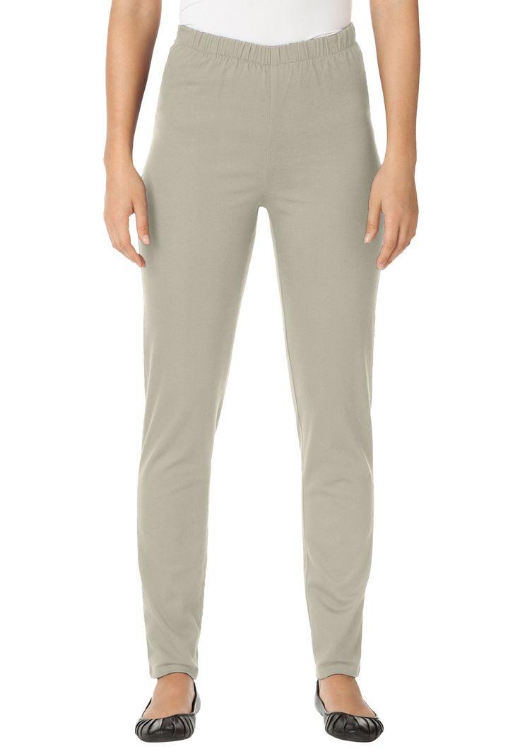 Petite Legging Pull On Denim - Women's Plus Size Clothing