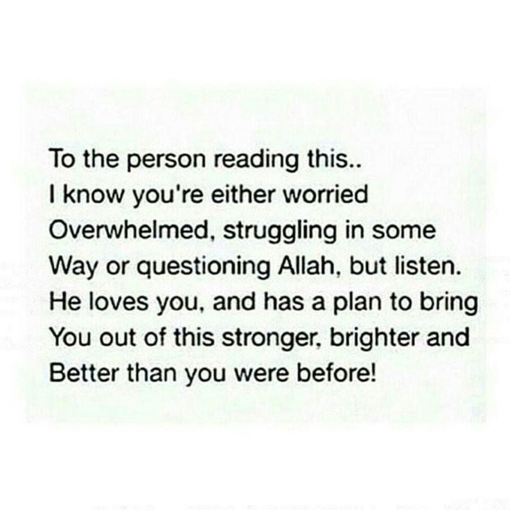 trust allah s.w.t.