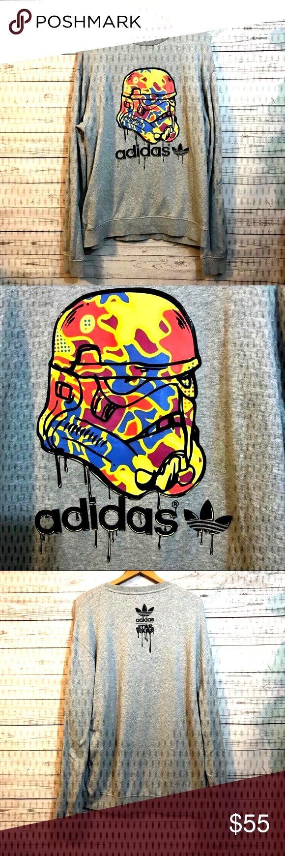 Lightweight Sweatshirt Jackets Trefoil Adidas Length Coats Chest Shirt Vader Darth Like Size New Box Sweatshirts Adidas Trefoil Sweatshirt Shirt [ 1740 x 580 Pixel ]