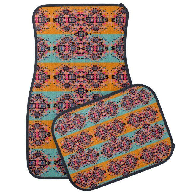 Oriental Colorful Ornate Stylish Pattern Car Floor Mat Zazzle Com Car Floor Mats Floor Mats Ornate