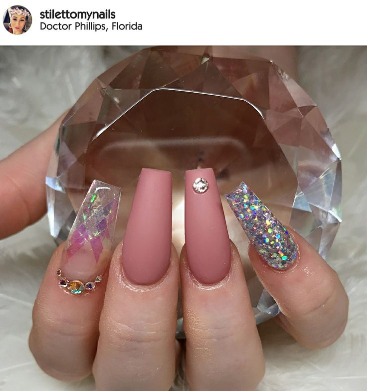 The 25 best crazy acrylic nails ideas on pinterest fun nails tapered square nails matte nails holographic glitter nails nails with rhinestones acrylic prinsesfo Gallery