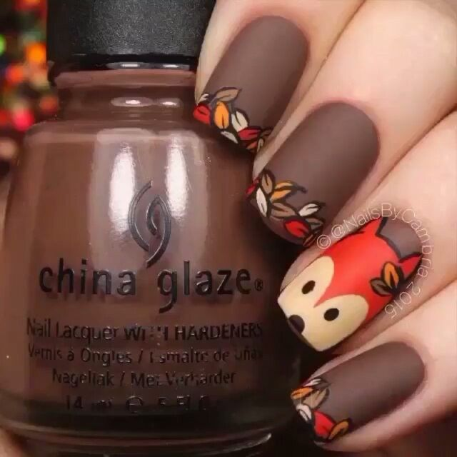 Hermosas #nails por:@nailsbycambria canción: What Does The Fox Say (Ylvis) que opinan?