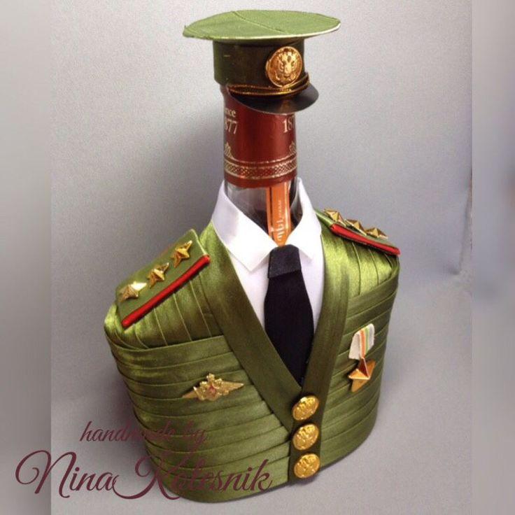 Старший прапорщик. Чехол на бутылку. Подарок военному мужчине в интернет-магазине на Ярмарке Мастеров.