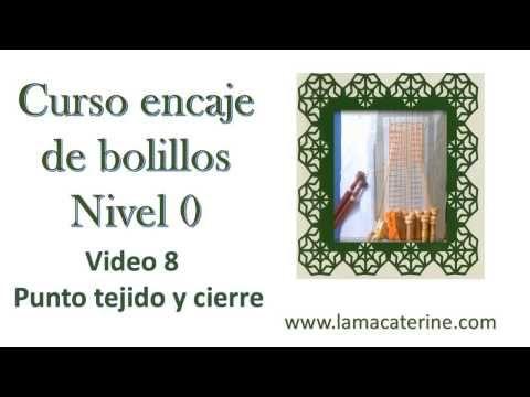 Curso gratuito de Encaje de bolillos desde 0: Video 9 -Punto de tejido y nuevo cierre - YouTube