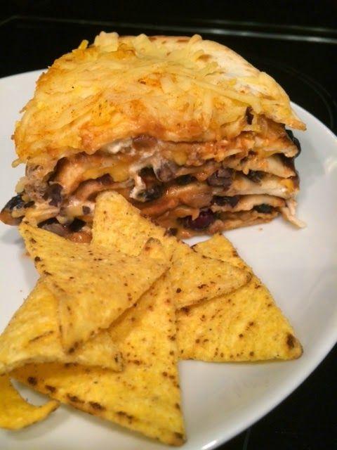 Warme wrap, tortilla taart om restjes in te verwerken