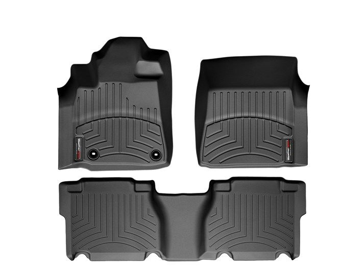 2012 Toyota Tundra | Floor Mats - Laser measured floor mats for a perfect fit | WeatherTech.com  Black front and back.