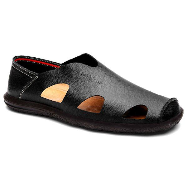 Leisure Men's Loafers With Hollow Out and Solid Color Design from 39.36$ by SAMMYDRESS