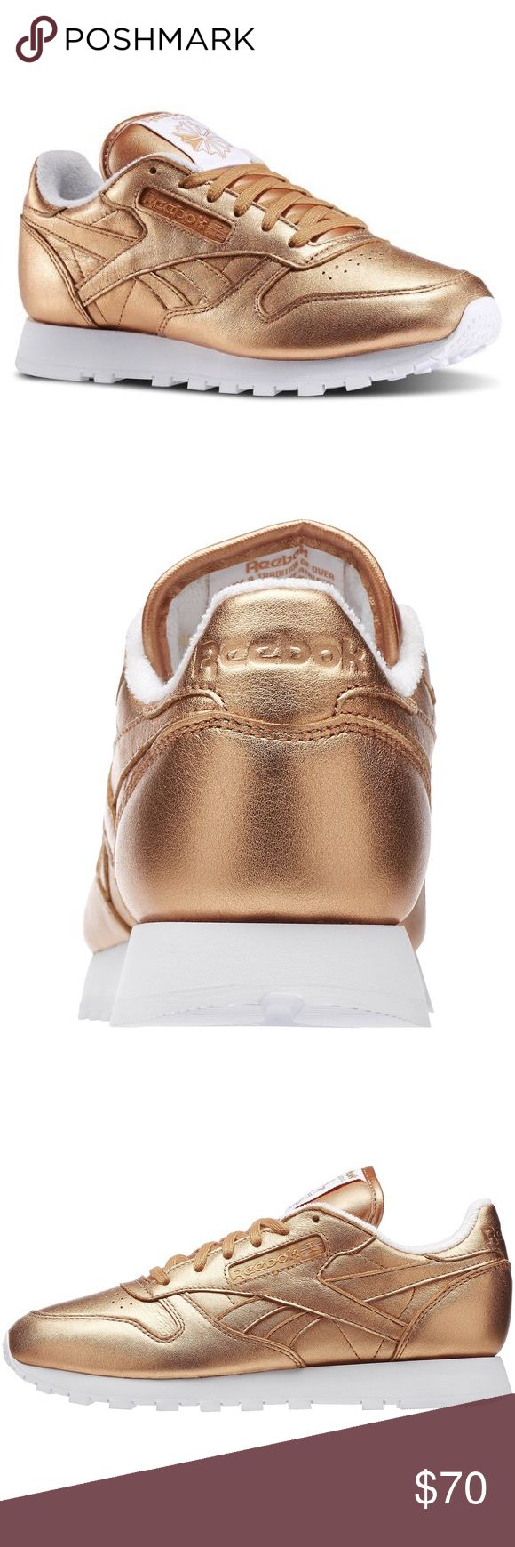 #151// • HP • LIMITED EDITION • WOMEN CLASSICS REEBOK X FACE STOCKHOLM CLASSIC LEATHER SPIRIT [ROSE GOLD] 7.5 worn a couple of times • will upload pictures of the actual kicks soon! Originally $79.99 + tax + shipping (only avail on their website!) Reebok Shoes Athletic Shoes