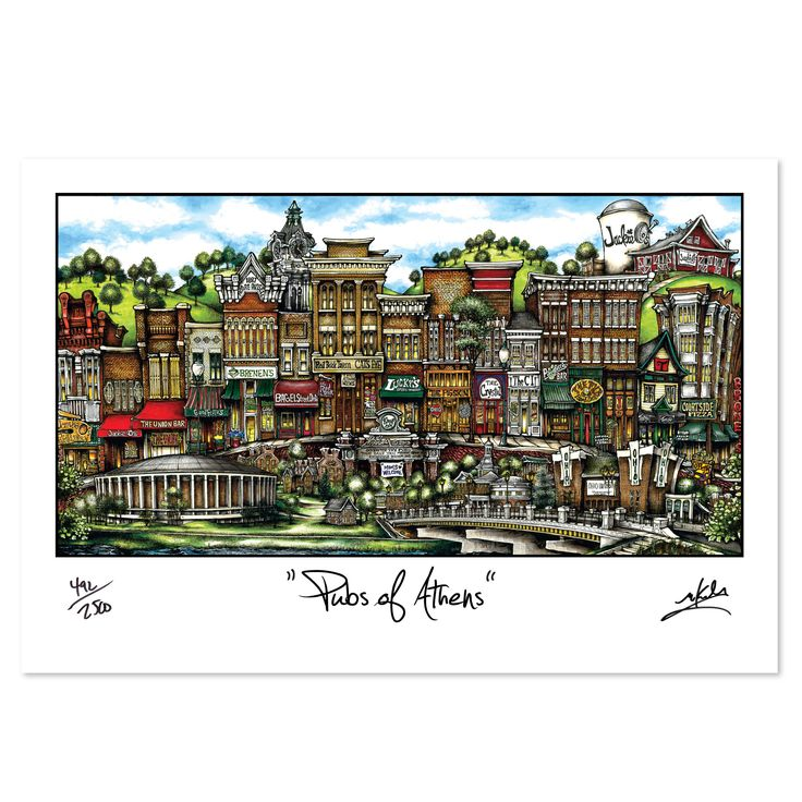 'Athens, OH' by Brian McKelvey Painting Print