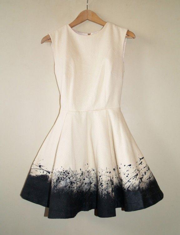 Diy Dresses, Style, Clothing Refashion, Diy Fashion, Black And White, Dips Dyes, Diy Tutorials, Diy Clothing, Jackson Pollock