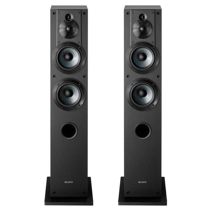 kenwood floor standing speakers. sony ss-cs3 3-way 4-driver floor-standing speaker - pair kenwood floor standing speakers