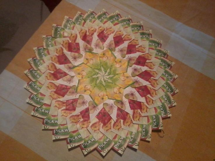 tea bag folding mandala