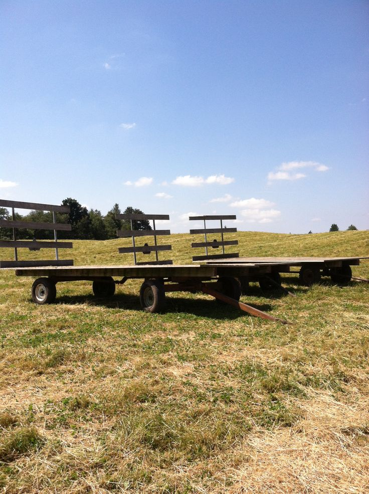 Hay wagons in Everson Washington ) Wish I lived there