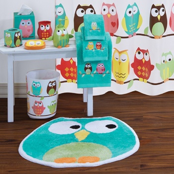 Owl Bathroom Set