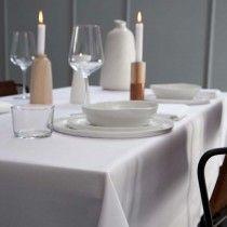 Tafelkleed Bordo, damast katoen, kleur wit  ,DDDDD, tafellaken